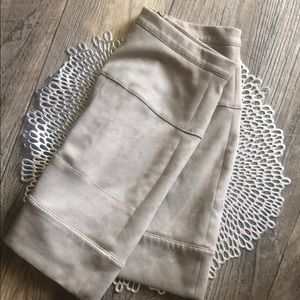 Bebe Faux Suede Skirt - Taupe, Size 4